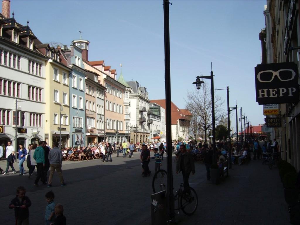 Konstanz, Blick auf die Marktstätte, in Richtung See