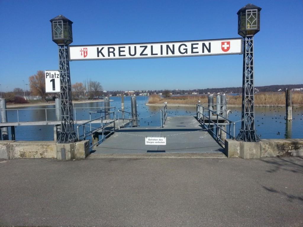 Eine Anlegestelle im Hafen Kreuzlingen