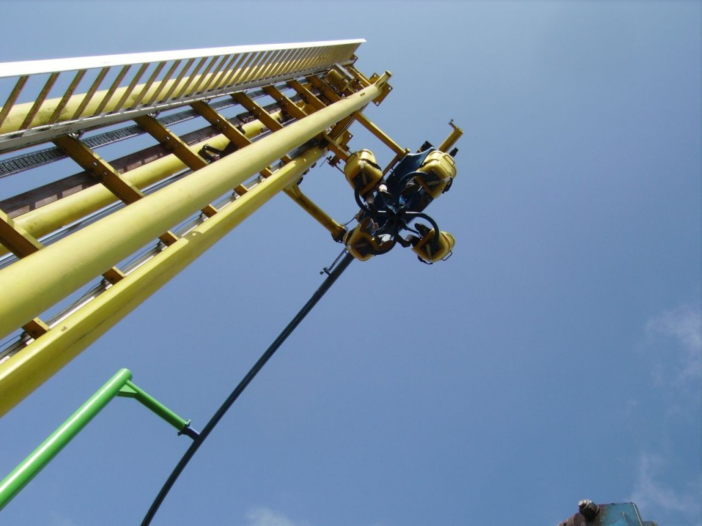 Sky Rider - Aufwärts geht es im Sky Rider in einem vertikalen Liftsystem