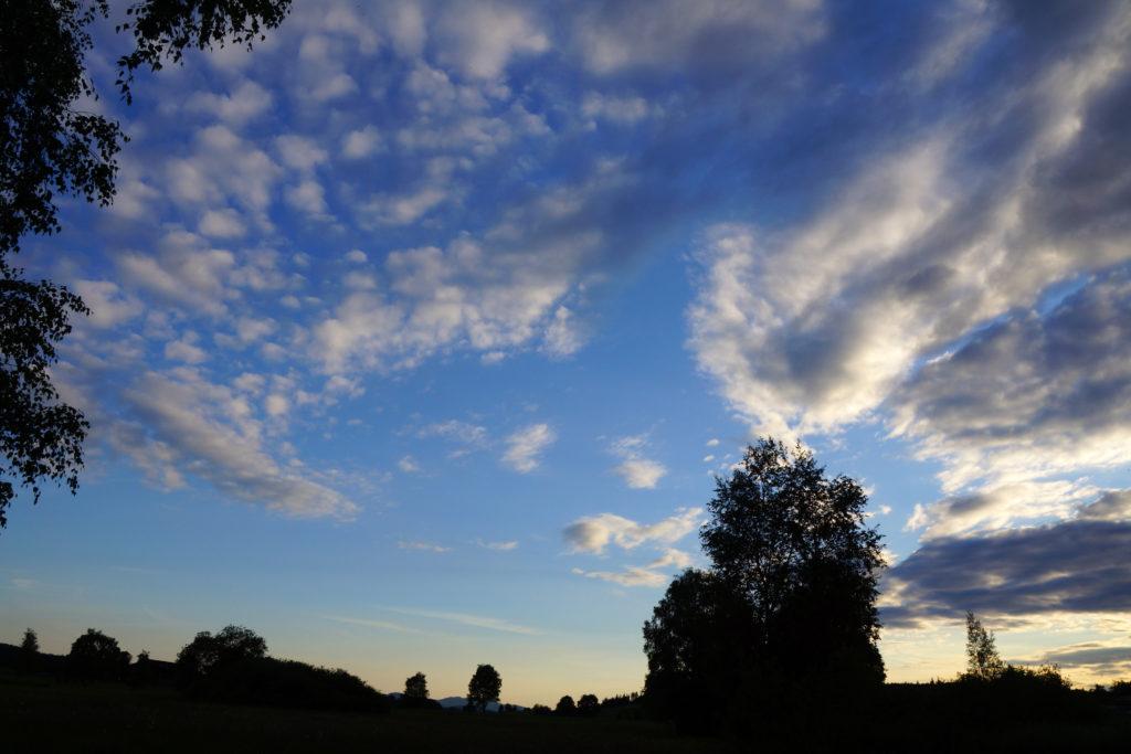 Märwiler Riet (Märwil, Thurgau): Himmel und Wolken